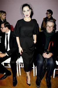 Dita Von Teese Aleis Mabille Fashion Show at Paris Fashion Week 1/21/13