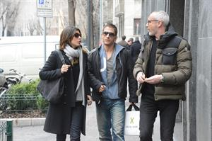 Elisabetta Canalis out and about in Milan (29.03.2013)