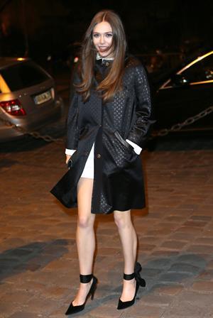 Elizabeth Olsen at the new Louis Vuitton opening in Paris 3/5/13