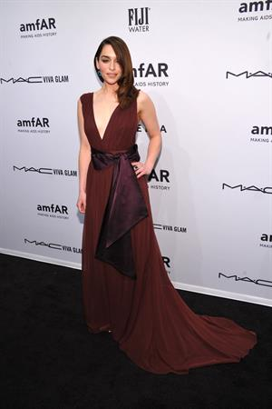 Emilia Clarke amfAR New York Gala To Kick Off Fall 2013 Fashion Week, Feb 6, 2013