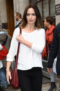Emily Blunt - Seen leaving BBC Radio One studios, London - June 13, 2012