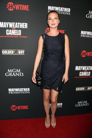 Emily VanCamp – Mayweather vs Alvarez Party 9/14/13