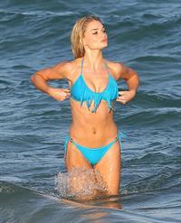 Emma Rigby - filming 'Plastic' on Miami Beach 01/16/13