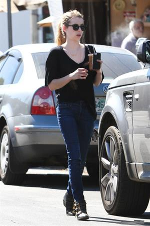 Emma Roberts walking in Hollywood 10/5/13