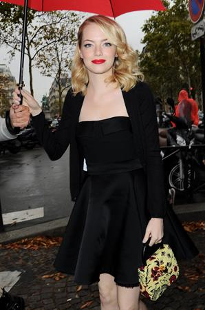 Emma Stone attends the Miu Miu show in Paris - October 3, 2012