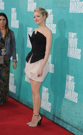Emma Stone - MTV Movie Awards at Universal Studios, Arrivals - June 3, 2012
