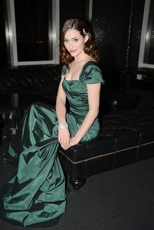 Emmy Rossum Manhattan Magazine Cover Party in New York, January 16, 2013
