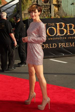 Evangeline Lilly The Hobbit An Unepected Journey premiere New Zealand 11/28/12