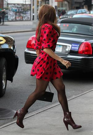 Eva Mendes at her hotel in NYC 3/10/13