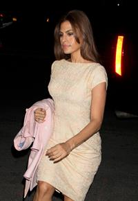 Eva Mendes - Completely in white in New York City on March 27, 2013