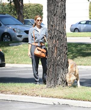 Eva Mendes - Walking her dog in Los Angeles - August 31, 2012