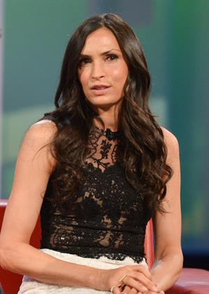 Famke Janssen Appears On  George Stroumboulopoulos Tonight  -- Toronto, Apr. 16, 2013