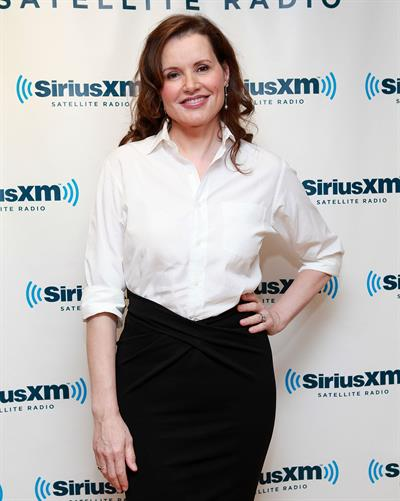 Geena Davis Visits SiriusM Studio in New York - October 22, 2012
