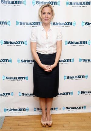Gillian Anderson Visits the SiriusXM Studios (May 16, 2013)