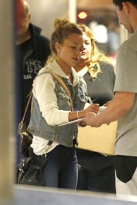 Hayden Panettiere arriving at LAX Airport and signing autographs on May 29, 2013