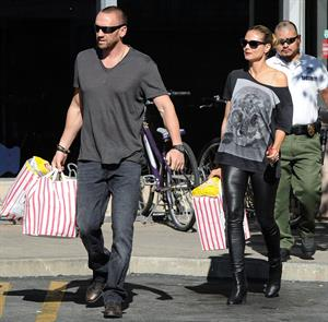 Heidi Klum Grocery shopping in Brentwood