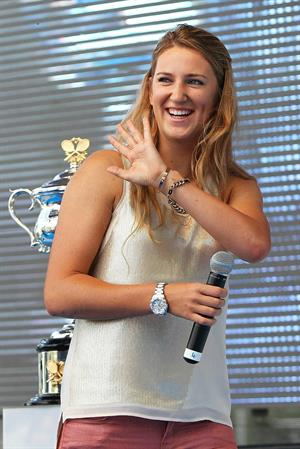 Victoria Azarenka  Official Draw for the 2013 Australian Open in Melbourne  January 11, 2013