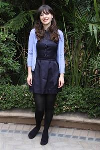 Zooey Deschanel New Girl press con portraits by Vera Anderson 10/10/12