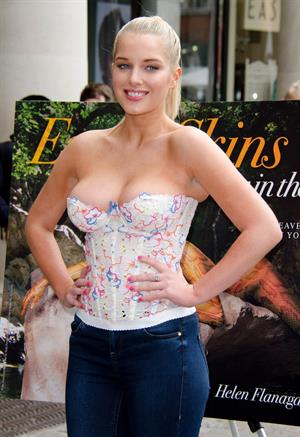 Helen Flanagan - Launches PETA's campaign to raise awareness of the use of eotic animal skins in London (23.05.2013)
