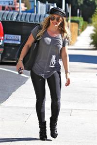 Hilary Duff candids in Santa Monica 11/1/13