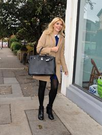 Holly Willoughby arriving at the filming ''Celebrity Juice'' in London October 3, 2012