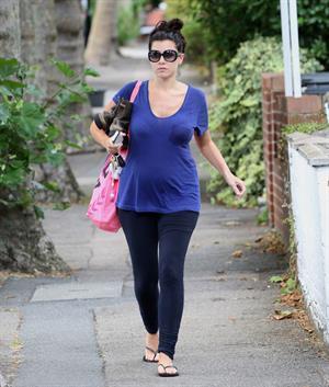 Imogen Thomas walking in London - August 28, 2012