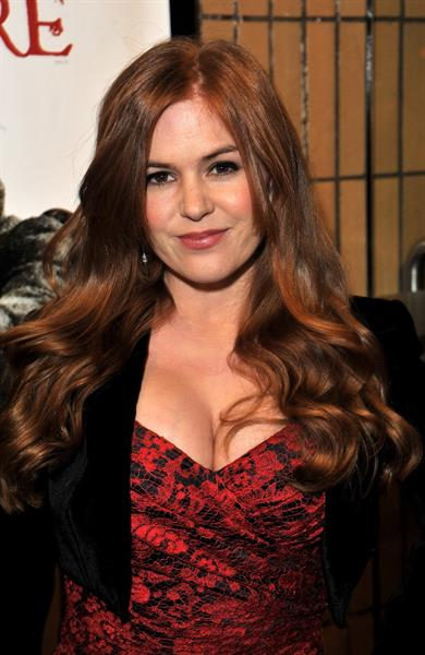 Isla Fisher Burke and Hare world premiere in London on October 25, 2010