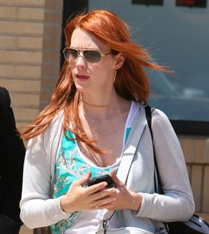 January Jones shops at Barneys New York in Beverly Hills on June 21, 2012