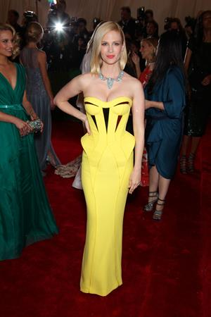 January Jones attends the Metropolitan Museum of Arts Costume Institute Gala on May 7, 2012