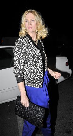 January Jones 33rd birthday at Fogo de Chao in Los Angeles on January 5, 2012