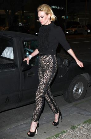 January Jones Enjoys a night out in Los Angeles on February 24, 2013