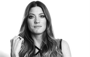 Jennifer Carpenter posing for Carlo Allegri portraits in New York City - October 26, 2012