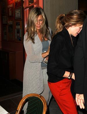 Jennifer Aniston - Leaves Bette Midler's Broadway play in New York City (10.05.2013)