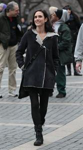 Jennifer Connelly on the set of  Winter's Tale  in New York 1/14/13