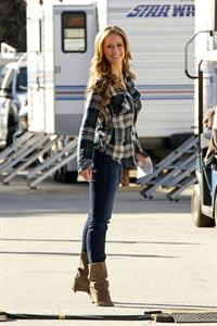 Jennifer Love Hewitt on the set of The Client List in Sherman Oaks February 1, 2013