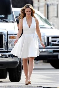 Jennifer Love Hewitt Seen on the set of The Client List in LA on January 2, 2013