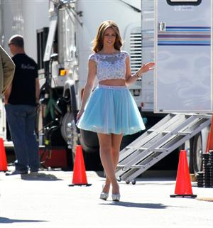 Jennifer Love Hewitt On the set of The Client List in Los Angeles January 4, 2013