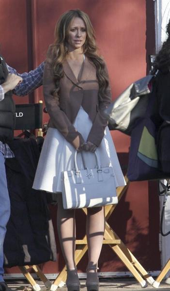 Jennifer Love Hewitt on the set of The Client List in Sherman Oaks February 1, 2013