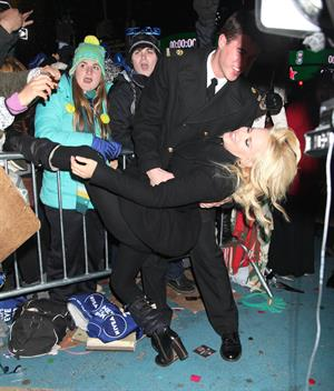 Jenny McCarthy New Year's Eve 2013 at Times Square in NYC 12/31/12