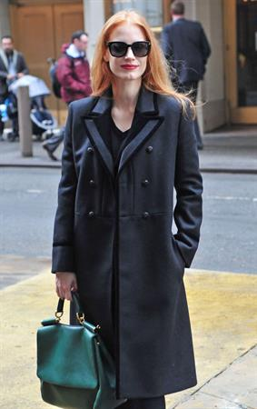 Jessica Chastain in New York City (30.01.2013) - The Heiress outside the Walter Kerr Theater