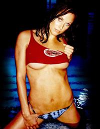 Amanda Beard in a bikini