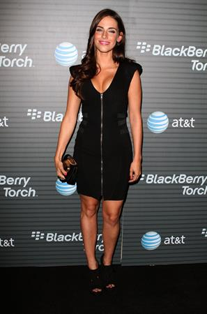 Jessica Lowndes attends Blackberry Torch launch party on August 11, 2010 in Los Angeles