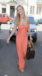 Joanna Krupa promotes her apperance on Top Model in Warsaw Poland