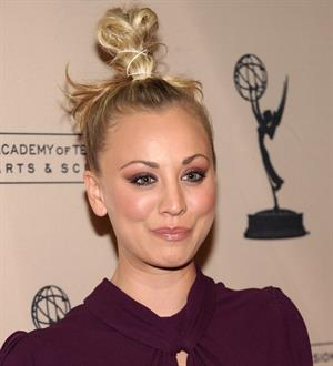 Kaley Cuoco attending the Academy of Television Arts Sciences at Leonard H Goldenson Theatre on February 18, 2010