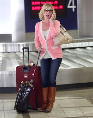 Katherine Heigl arriving on a flight at LAX airport October 4, 2012