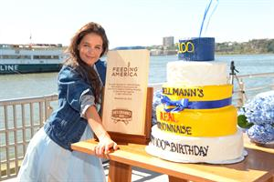 Katie Holmes At Pier 84 to Celebrate Hellmann`s 100th birthday At an Event Benefiting Feeding America