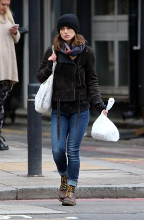 Keira Knightley out and about in London 2/25/13