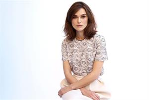 Keira Knightley posing for Matt Sayles portraits in New York City - November 13, 2012