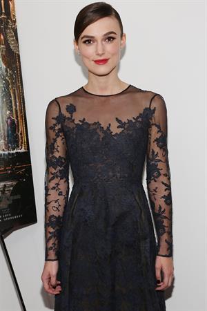 Keira Knightley Anna Karenina screening in New York - November 7, 2012