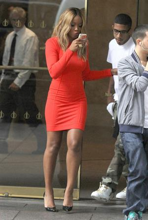 Keke Palmer outside Sirius Radio studios in NYC October 3, 2012